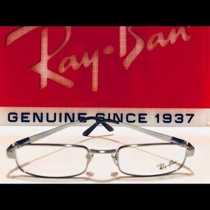 Ray-Ban Eyeglasses Silver Brushed Gunmetal New 49